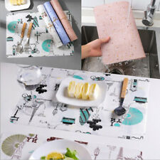 3PCS Placemats Heat Insulated Set Woven Vinyl Table Mats Dining Kitchen Deco