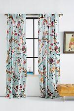 "Anthropologie Cecilia Floral Jade Single Curtain Panel - 50"" x 108"""