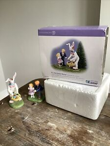 Department Dept 56 ITS THE EASTER BUNNY Snow Village Accessory 55164 Set In Box