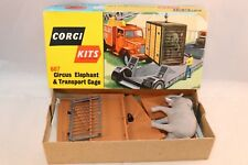Corgi Toys 607 Kits Circus Elephant & transport Cage perfect mint in box