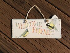 Hallmark Marjolein Bastin Porcelain Welcome Hanging Sign Garden Wall Plaque 10""