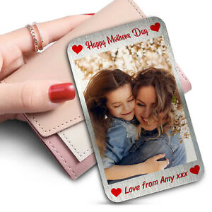 Mothers Day Gift Purse Wallet SILVER Metal Card Insert Gift For Mum Personalised
