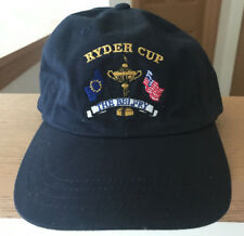 fa8fb3a91e4 Ryder Cup Golf Hat Cap Strapback USA The Belfry Slazenger EUC PGA Europe  Blue