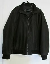 Andrew Marc Black Quilted Winter Jacket Short Full Zip Elastic Waist Size XL
