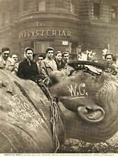 PHOTOGRAPH SOVIET STALIN GIANT STATUE BURN HISTORICAL ART PRINT POSTER BB8928