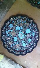 "18"" marble Plate Inlay Pietra Dura Stone Handicraft for Home Decor for gifts"