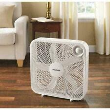 Box Fan 20 Inch Blade with 3 Speed Settings Portable Cooling Floor Fans White