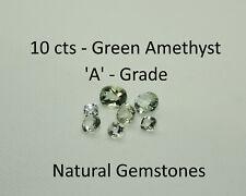 Green Amethyst Loose Natural Gemstones 10 Carats Grade A