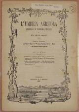 L'UMBRIA AGRICOLA 15 30 AGOSTO 1889 VINO NOTO SIRACUSA SICILIA SICILY TOSCANA