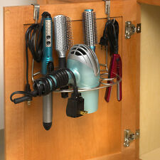 Hair Dryer Holder Over the Cabinet Door Curling Iron Styling Tool Organizer Rack