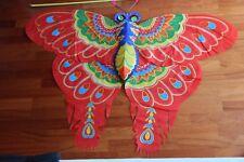 Cerf-volant chinois papillon roug 3D-Chinese kite-aquilone cinese-cometa china 8