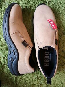 Hero Wrangler Slip on Suede Shoes size 10 Beige Suede