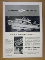 1960 Cruis Along COURIER 24 boat yacht photo vintage print Ad