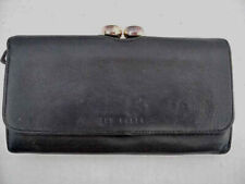 Ted Baker Leather Bobble Matinee Purse Black With Initials TB