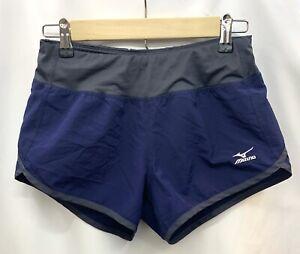 Mizuno Women's Running Active Workout DryLite Performance Blue/Gray Shorts XS