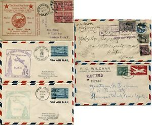 5 USA Airmail  Registered Postage Stamps Special Delivery Cover Collection