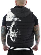 Yakuza Herren - Männer Weste Skull Quilted 10077 schwarz gR 3XL