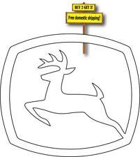 John Deere Die Cut Deer Decal Sticker
