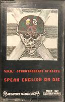 S.O.D. – Speak English Or Die Cassette 1987 Megaforce Records – MRIT 1269