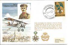 2nd Lt Edmond Thieffry Au-Dessus De Bruxelles Occupe Flown Cover 1978 Z4963