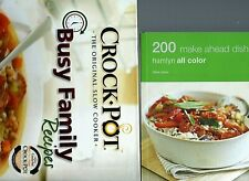2 Cookbooks to Make Cooking Easier 200 Make Ahead Dishes & Crock Pot Busy Family