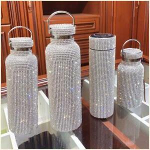 350ML/500ML/750ML Diamond Thermos Bottle Water Bottle Stainless Steel Sparkling