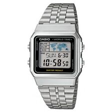 Casio Collection Digital LCD Watch + Chrono Alarms Timer World Time A500WEA-1EF