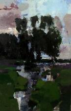 """NEW VYTAUTAS LAISONAS ORIGINAL CANVAS """"Wet Meadow"""" Landscape OIL PAINTING"""