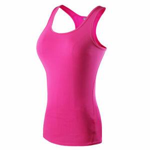 Women Multi-color Racerback Tank Tops Fitness Sport Yoga Stretch Activewear Tops