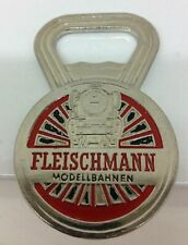 More details for vintage fleischmann bottle opener mint condition chromed brass - excellent