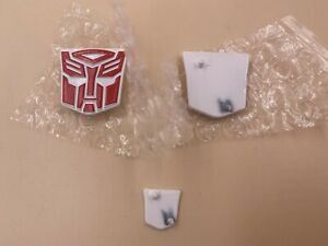 Ocean Metal Pure Red  Autobot Logos for MPP10 Trailer & figure,In stock!
