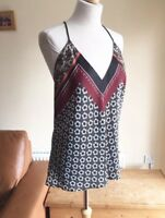 Zara Multi Colour Scarf Printed Top Cami  Tunic Size L UK 14 BNWT
