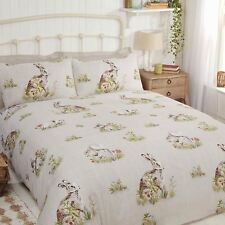 COUNTRY BUMPKIN DOUBLE DUVET COVER SET BEDDING WOODLAND ANIMALS HARES