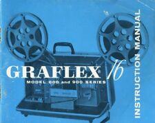 Graflex 16 Model 800 and 900 Projector Instruction Manual