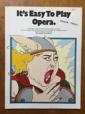 """It's Easy to Play Opera """"Toreador's Song"""" """"One Fine Day""""  music song book 1982"""