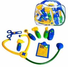 NEW KIDS 9PC DR DOCTORS NURSES DRESS UP ROLE PLAY TOY MEDICAL CARRY CASE KIT SET