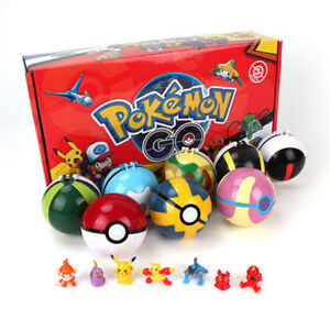 2.8'' 8Pcs Pokeball Pokeball Pokemon Action Figures Christmas Toys UK STOCK