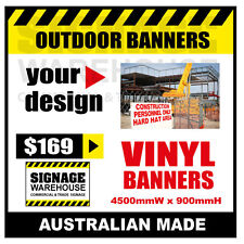 Custom Outdoor Vinyl Banner Sign  - 4500mmW x 900mmH Signage Warehouse