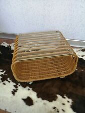 Vintage Mid Century  Tabel  Franco Albini  Style  Rattan Bamboo Bambus Tisch