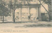WEST HAVEN CT - Savin Rock White City Entrance Rotograph Postcard - udb - 1906