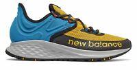 New Balance Men's Fresh Foam Roav Trail Shoes Gold with Blue & Black