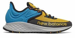 New Balance Men's Fresh Foam Roav Trail Shoes Gold with Blue & Black