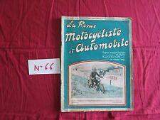 La Revue Motocycliste  N°66 ; 15 & 25 octobre  1924 : compte rendu du salon