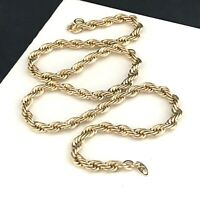Vintage Trifari Necklace Thick Rope Chain Classic Chic Everyday Necklace 4Q