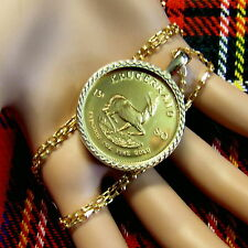 9ct gold New bullion pendant that will fit a one Oz gold krugerrand coin