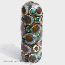 SUSSEX Handmade Art Glass Focal Bead Flaming Fools Lampwork Art Glass SRA
