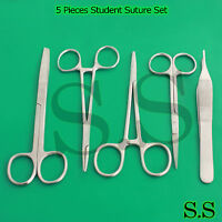 5 Pieces- Student Suture Surgical Medical Instruments Set Kit,STAINLESS DS-620