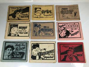 Tijuana Bible Comic 1930s Lot (9) Books Pop Eye Andy Gump Wimpy Nelson Jiggs +