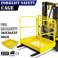 92x92Cm Forklift Safety Cage Work Platform Built-In Chains Aerial Fence  Durable