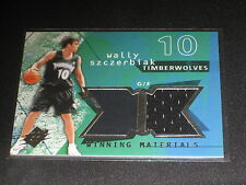 WALLY SZCZERBIAK WOLVES LEGEND CERTIFIED AUTHENTIC GAME USED NBA JERSEY CARD